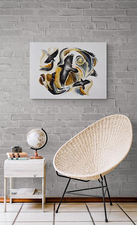 Mokup Raven I - Nicole de Passillé artiste peintre art abstrait