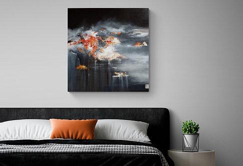 Mokup Crépuscule - Pauline Giguère artiste peintre art abstrait