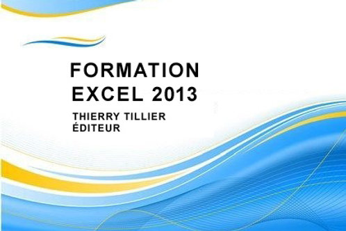 Cours Excel 2013