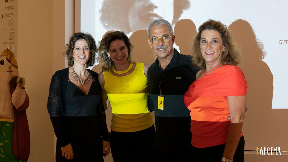 Roberta Gabriel (diretora executiva do IGR), Beth Romero (diretora executiva da Se Joga), Roberto Rosa (presidente do IGR) e Elisabeth Leone (head de cultura da Se Joga)