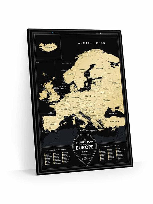 Travel Map Black Europe