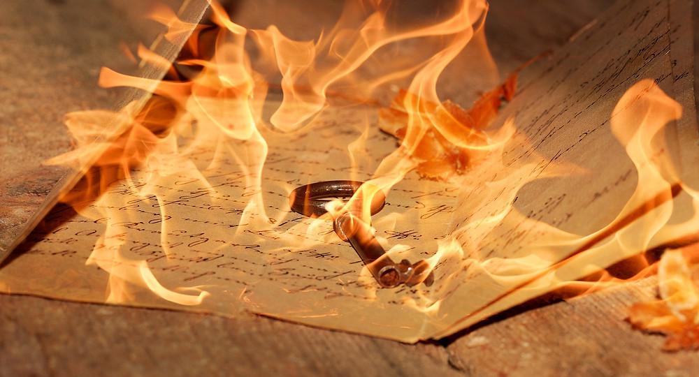 Lettres feu clé