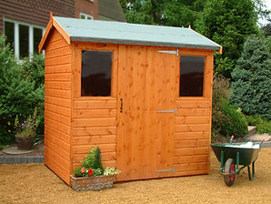 Extra High Apex shed