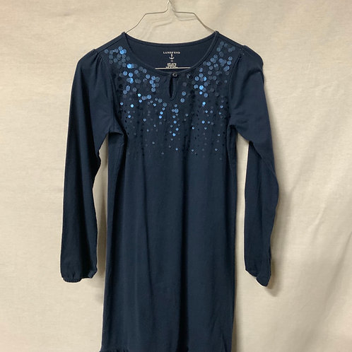 Girls Long Sleeve Dress - Size L (12)