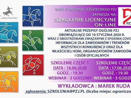 UWAGA, UWAGA! SZKOLENIE LICENCYJNE ONLINE 16-17 CZERWCA