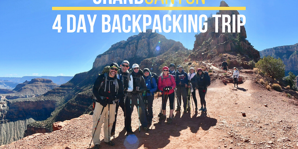 4 Day Grand Canyon Backpacking Trip - TBA