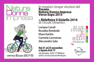 In mostra i 5 vincitori del premio Natura Donna Impresa - NDIversoExpo2015