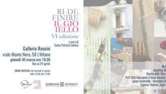 La Galleria Rossini ospita 8 gioielli del progetto Ridefinire il Gioiello