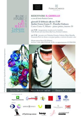 In mostra i gioielli premiati del progetto Ridefinire il Gioielloall'Atelier Corso Como 9dall'11 a