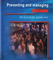 Preventing and managing violence training film sleeve, photo of people in a bar