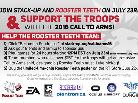 rooster teeth call to arms livestreaming event