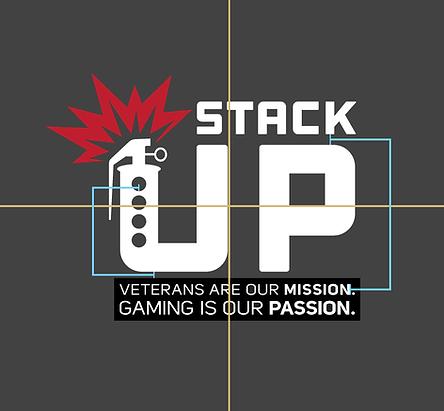 Stack Up Logo White Red Flash Tagline Sp