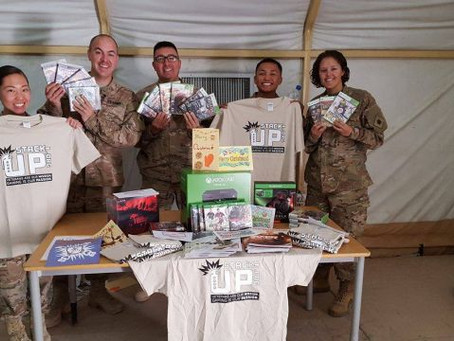 supply crate to 640th aviation support battalion in kuwait surprise party ii