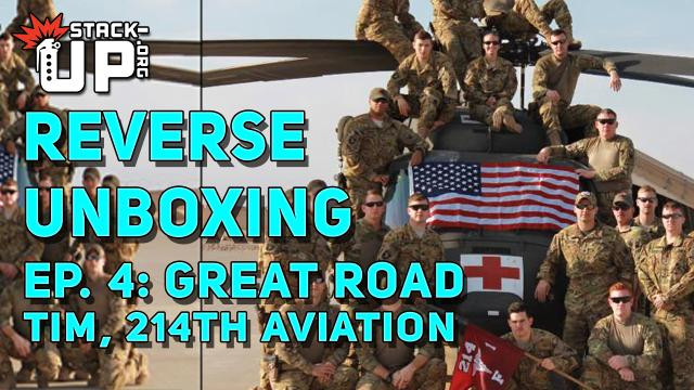 great road, veterans, reverse unboxing, military, video, support, help, crate, army, aviation, medevac, blackhawk, pilot, mechanics, afghanistan, GWOT, OEF