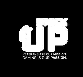Stack Up Logo White Black Flash Tagline.