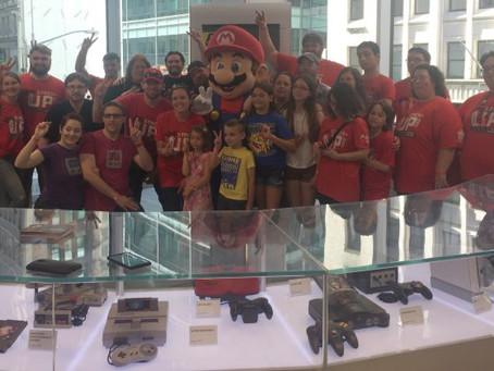 Red Shirt Raid at the Nintendo Store!