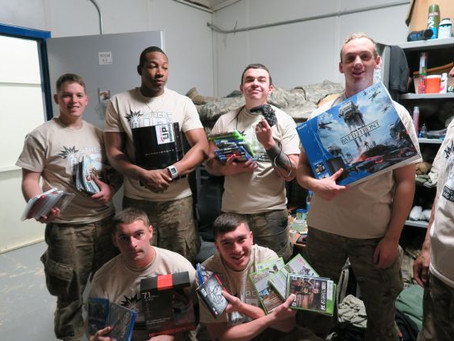 supply crate to 2 14 infantry in afghanistan surprise party i