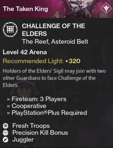 Challenge of the Elders