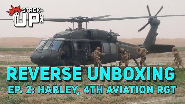 harley, support, military, mission, blackhawk, 4th, 4 CAR, aviation, regiment, afghanistan, army, aircraft, helicopter, crate, supply crate, reverse, unboxing, reverse unboxing, shanghai six, stephen machuga