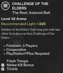 Challenge of the Elders