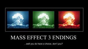 Mass Effect 3 Endings