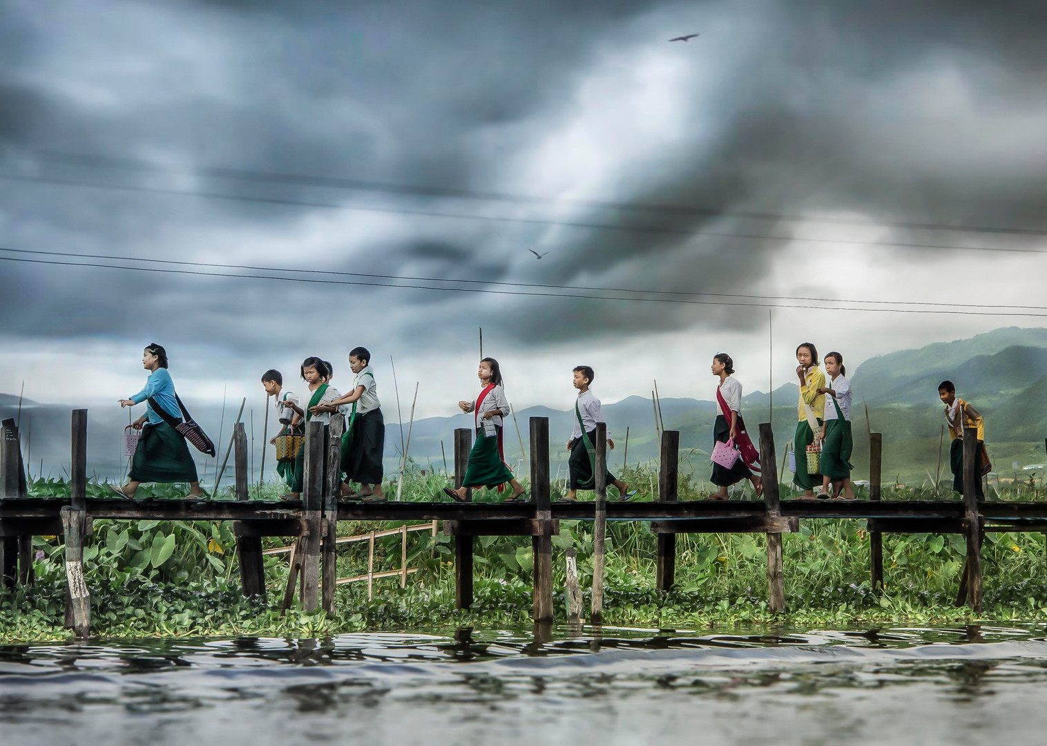 School Children, Inle village