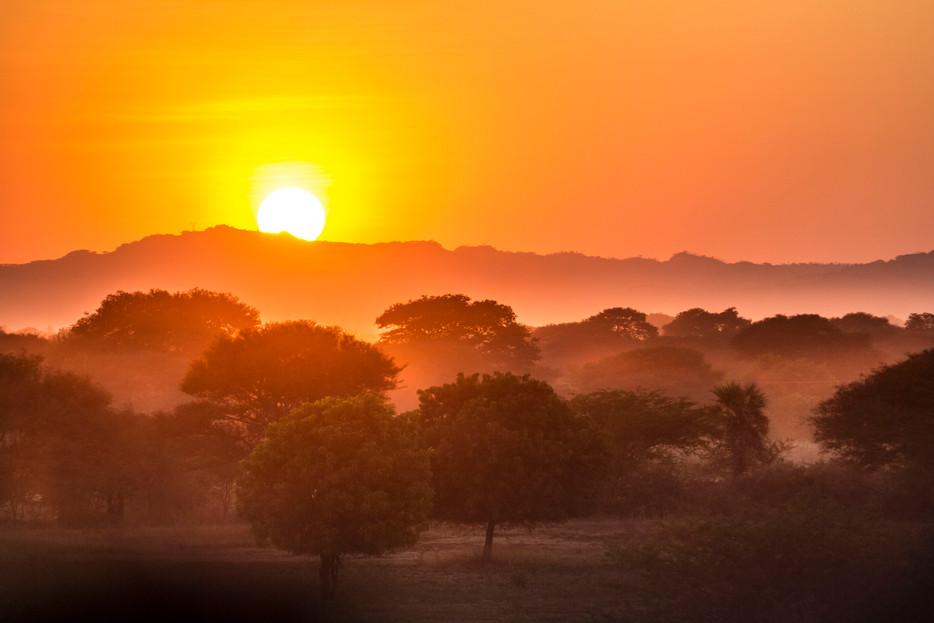 Sunset, Northern Bagan Highlands.