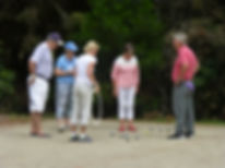 Petanque players