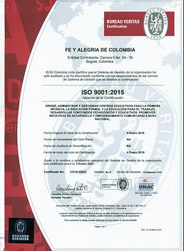 Certificado BVC 2018