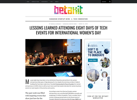 Lessons learned attending eight days of tech events for International Women's Day