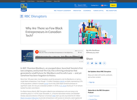RBC Disruptors Podcast: Why Are There so Few Black Entrepreneurs in Canadian Tech?