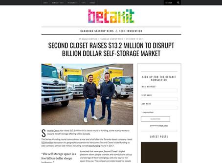 Second Closet raises $13.2 million to disrupt billion dollar self-storage market