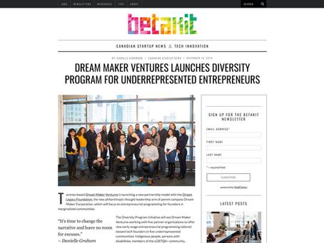 Dream Maker Ventures launches diversity program for underrepresented entrepreneurs