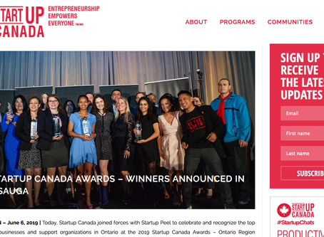 2019 Startup Canada Awards – Winners Announced in Mississauga