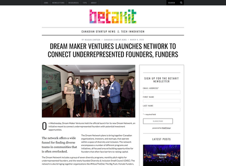 Dream Maker Ventures launches network to connect underrepresented founders, funders
