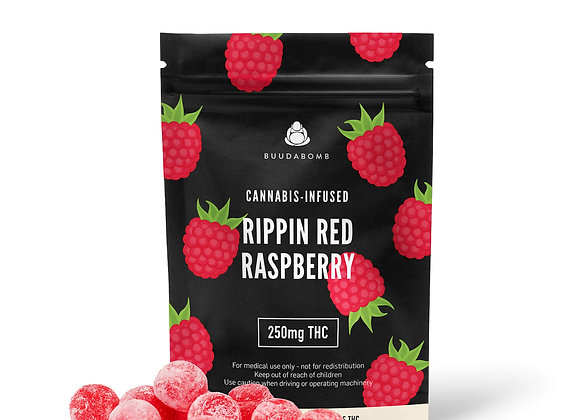 Rippin Red Rasberry Gummied Same Day Weed Delivery