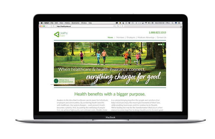 HCA Healhcare's Healthy State Website Design