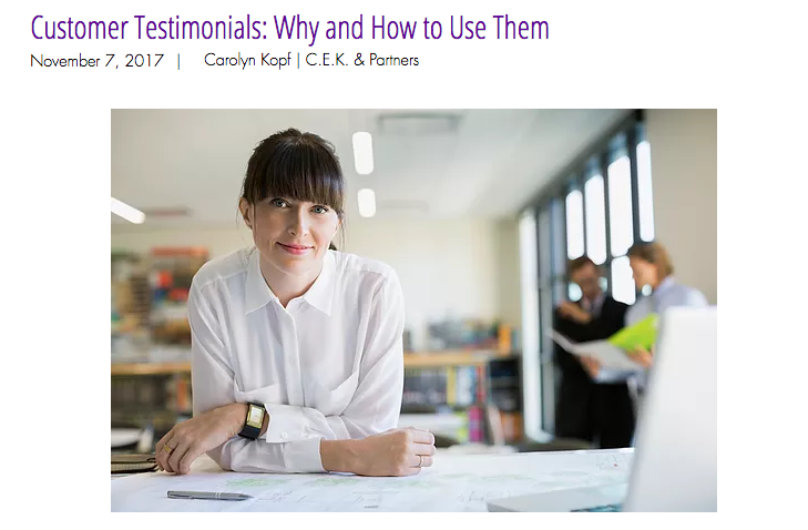 Why and How to Use Customer Testimonials - Atlanta content creators.