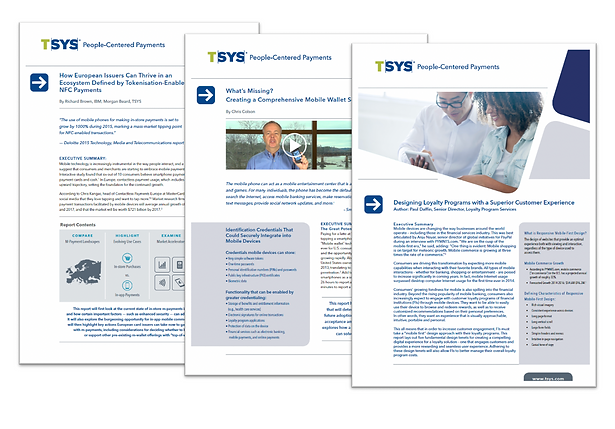 Collection of white papers C.E.K. wrote for the TSYS thought leadership program