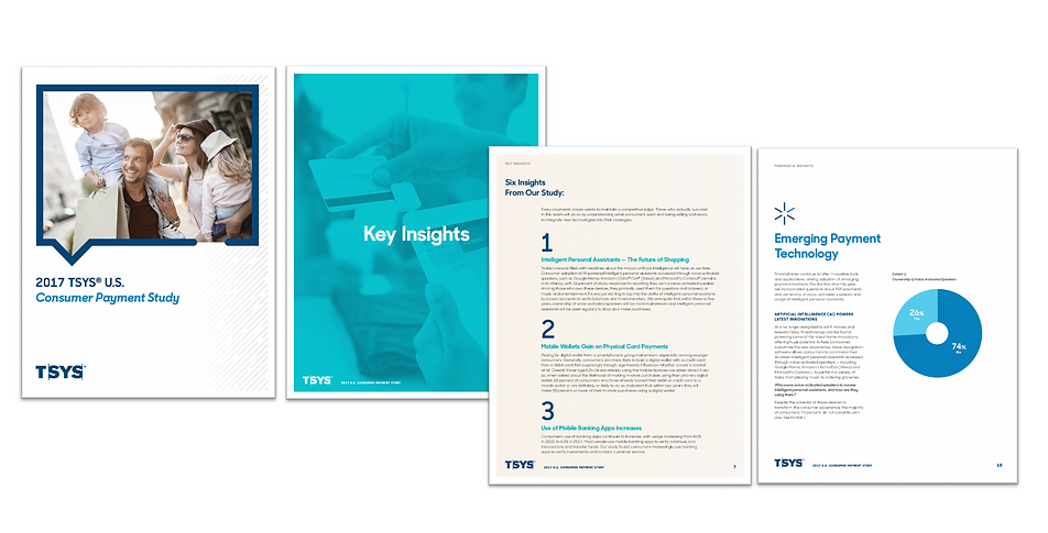 Pages from the 2017 TSYS U.S. Consumer Payment Study