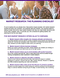 First page of market research checklist