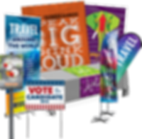 political signs, political banners, busiess signs, promotional banners, flags, pop-up banners, table cloth printing