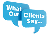 what our clients say, testimonials