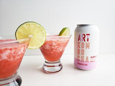 Cocktail kombucha alcoolisé hibiscus