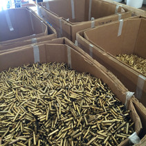 Sorted rifle brass