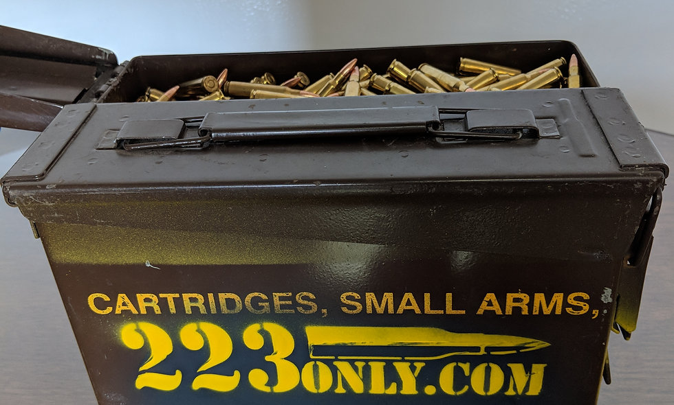 .223 1000rds. Remanufactured 62 gr. Tracers