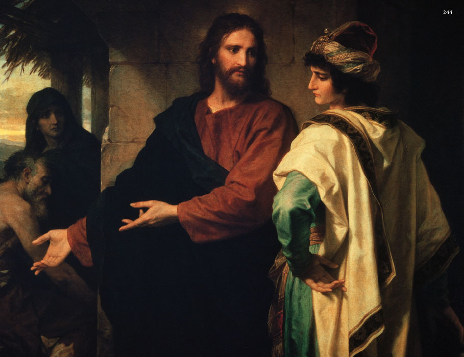 Jesus with Poor and Rich