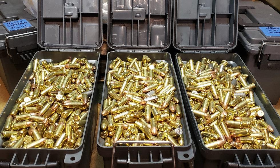 9mm 1100 rds. (NEW) 115 gr. FMJ/TMJ