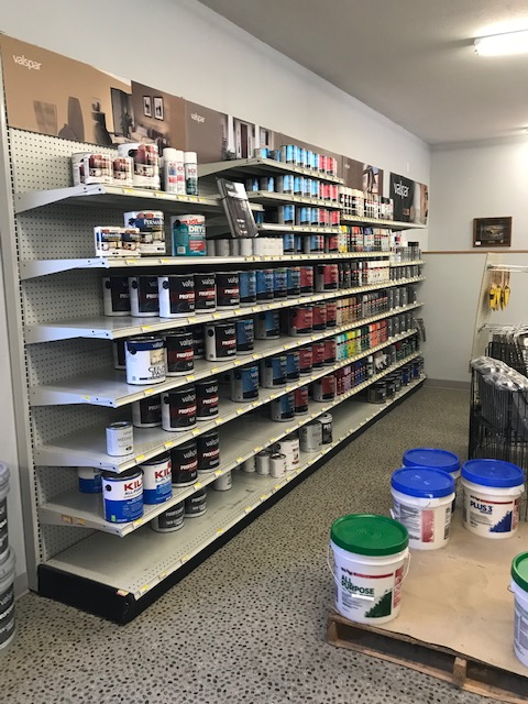 paint display shelving