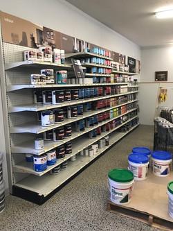 paint display shelving